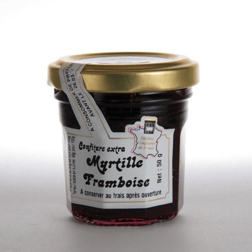 confiture myrtille framboise